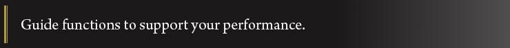 Performansınızı destekleyen kılavuz fonksiyonlar
