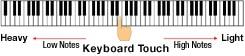 Otantik kuyruklu piyano hissi veren Ölçekli Çekiç Aksiyonlu Klavye